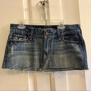 Abercrombie & Fitch Denim Jean Miniskirt Size 00